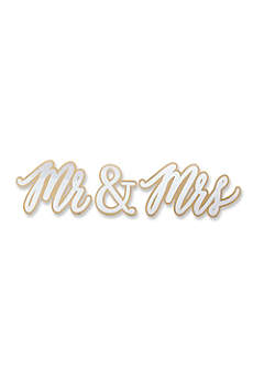 Gold Mr and Mrs Sweetheart Table Sign