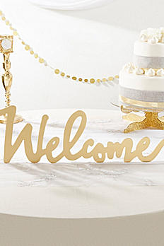 Gold Welcome Table Sign 22070NA