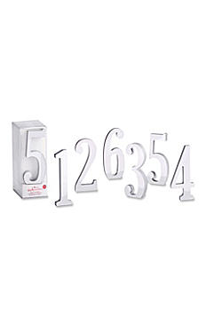 Silver Mirror Table Numbers Set of 6 22076