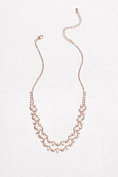 Pearl and Crystal Double-Strand Necklace 22495N