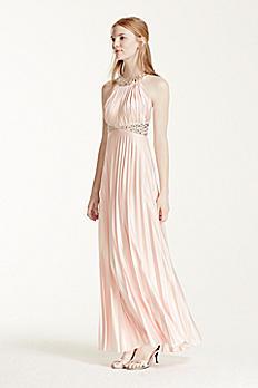 Crystal Embellished Strappy Back Halter Dress 2275SK8S