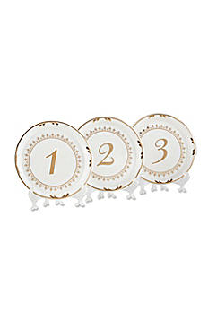Tea Time Vintage Plate Table Numbers Set of 6 23142