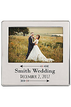 Personalized Arrow Engraved Silver Picture Frame 2315-7