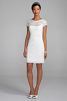 Short Lace Cap Sleeve Dress with Exposed Zipper 231M28570