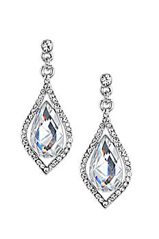 Caged Crystal Teardrop Earrings 23315