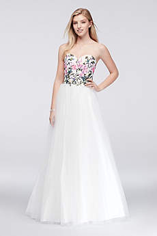 Long Ballgown Strapless Prom Dress - Sean Collections