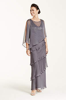 Long Sheath Capelet Mother and Special Guest Dress - Ignite