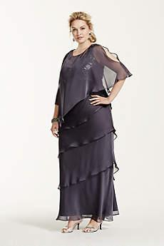 Long Sheath Cap Sleeves Formal Dresses Dress - Ignite