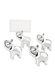 Lucky in Love Elephant Place Card Holder Set of 4 25082SV