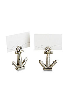 Nautical Anchor Place Card/Photo Holder Set of 6 25137NA