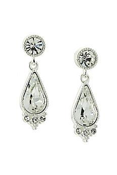 Swarovski Crystal Post Teardrop Earrings 26319