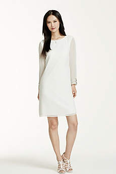 Short Sheath Simple Wedding Dress - DB Studio