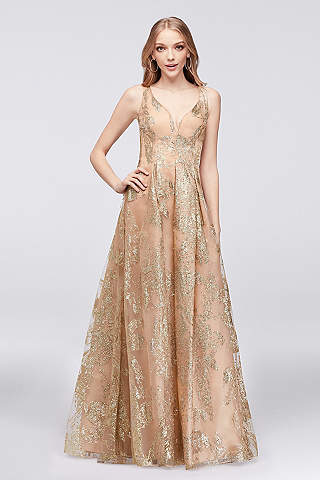 neck prom dresses