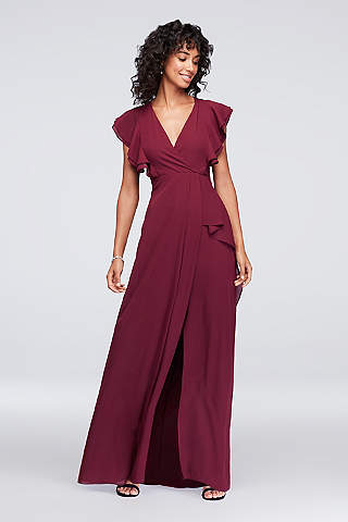 Plum color dress plus size