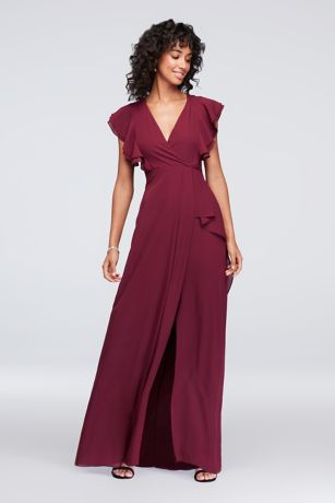 Apple red bridesmaid dress plus size