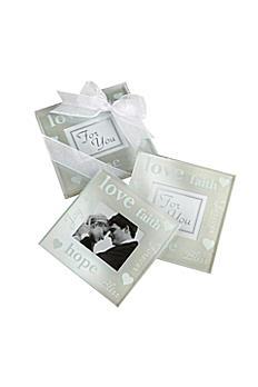 Pearlized Photo Coasters Set of 2 27015NA