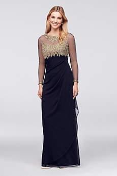 Long Sheath Long Sleeves Formal Dresses Dress - Xscape