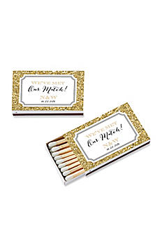 Personalized Gold Glitter Matchboxes Set of 50 28257WT-WD