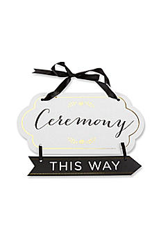 Classic Gold Foil Directional Ceremony Sign 28317NA