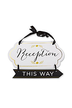 Classic Gold Foil Directional Reception Sign 28319NA