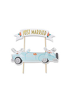 Just Married Vintage Car Cake Topper 28321NA