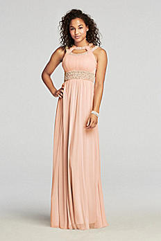 Pearl Beaded Cut Out Halter Prom Dress 2848SJ8S