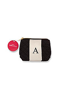 Personalized Black and White Monogram Makeup Bag 29096X