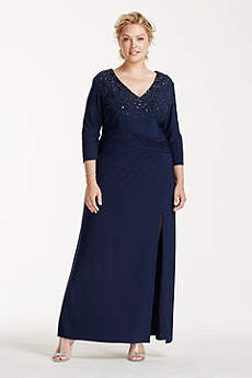 Long Sheath 3/4 Sleeves Mother and Special Guest Dress -