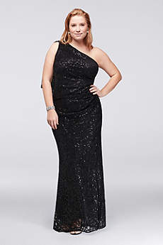 Long Sheath One Shoulder Mother and Special Guest Dress - Marina