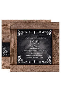 Rustic Chalkboard Invitation Sample DB23246