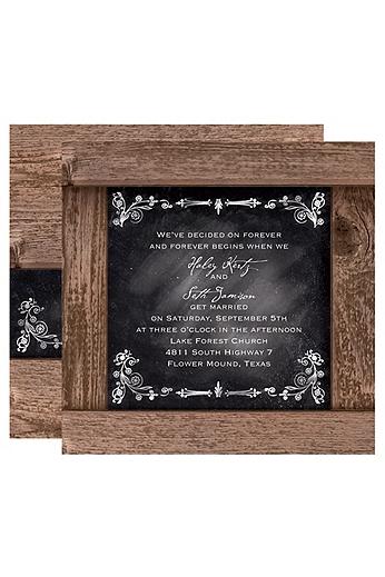 Rustic Chalkboard Invitation Sample DB23246