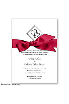 Diamond Hearts Invitation Sample DB3142KJ