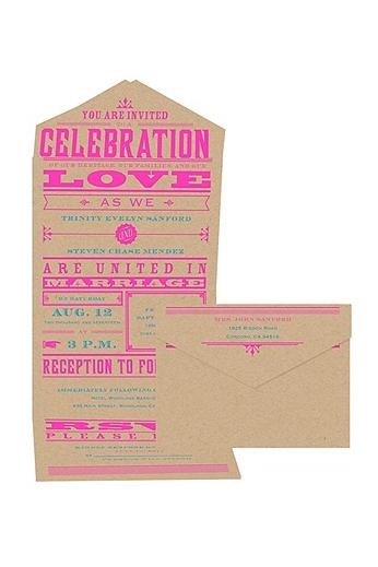 Bold Love Invitation Sample DB32592