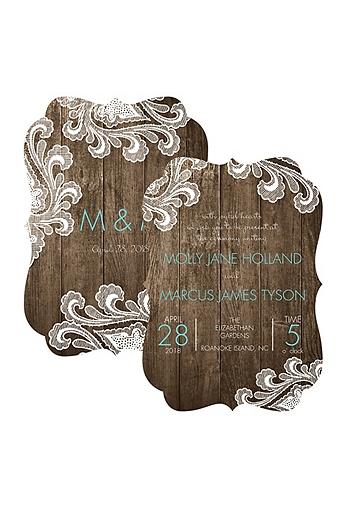 Framed in Lace Invitation Sample DB33625