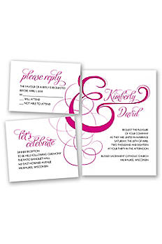 Elegant Ampersand Invitation Sample DB34825