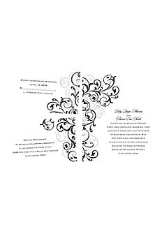 Regal Swirls Invitation Sample DB35039