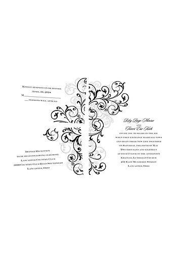 Regal Swirls Invitation Sample DB35039