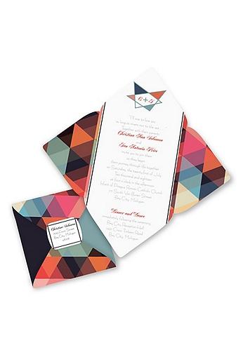 Contemporary Geometric Invitation Sample DB35701