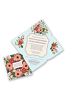 Posh Posies Invitation Sample DB35755MNT