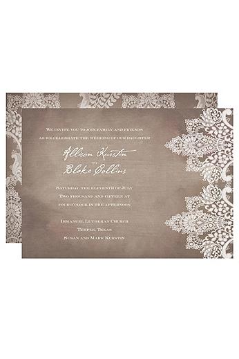 Vintage Lace Invitation Sample DB9855AA1D