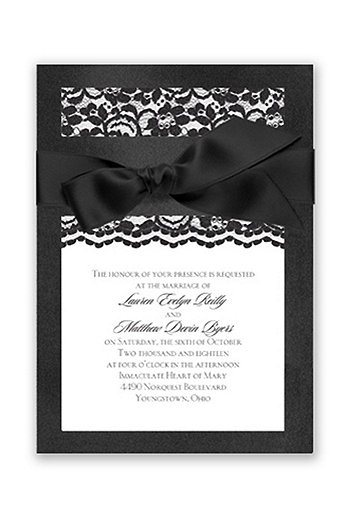 Treasured Jewels Love Lace Invitation Sample DBN36654