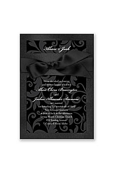 Treasured Jewels Pattern Invitation Sample DBN10690TJP
