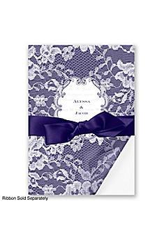 Lace Wrap Invitation Sample DBN9855O8B