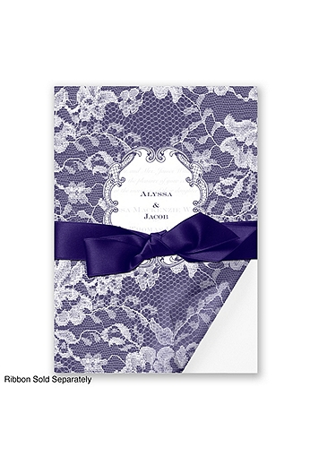 Lace Wrap Invitation Sample DBN9855O8B
