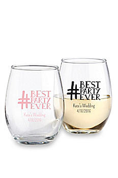 DB Exclusive Personalized Stemless Wine Glass 9oz 30009NA-DBEW