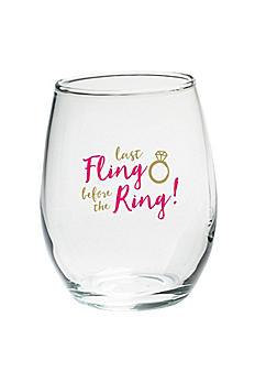 Last Fling 15 oz Stemless Wine Glasses Set of 4 30023NA-LF
