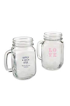Personalized 16 oz Mason Jar Mug