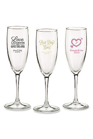 Champagne Glasses and Toasting Flutes   David\'s Bridal
