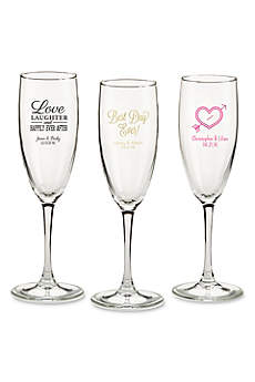 Personalized Wedding Theme Champagne Flutes