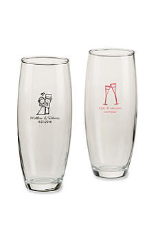 Personalized Wedding Stemless Champagne Glass